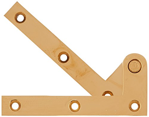 Solid Brass Pivot Base - Deltana PH40CR003 Solid Brass 4 3/8-Inch x 5/8-Inch x 1/4-Inch Pivot Hinge