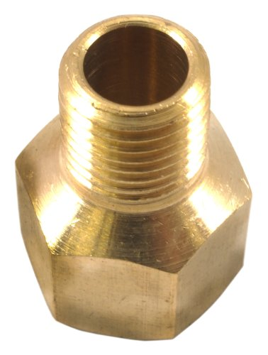 Forney 75447 Brass Fitting, Reducer Adapter, 3/8-Inch Female NPT to 1/4-Inch Male NPT ()