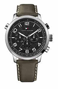 Tommy Hilfiger 1790792 - Reloj de caballero de cuarzo, correa de piel color verde