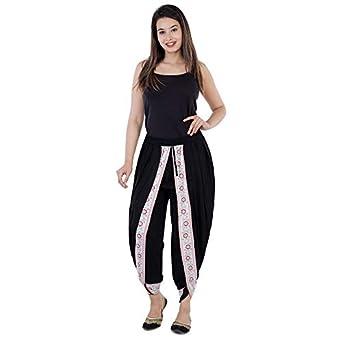 Styleee Women's Rayon Dhoti Pants Salwar (Multicolor, Free_Size)