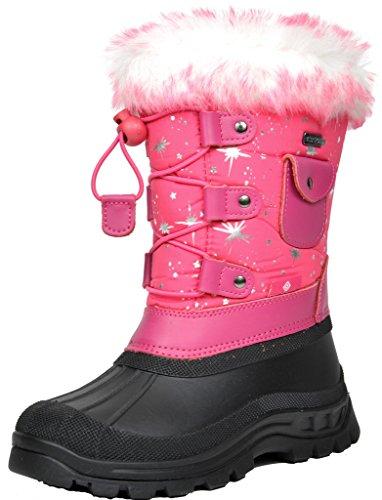 Price comparison product image DREAM PAIRS Little Kid Ksnow Fuchsia Isulated Waterproof Snow Boots - 11 M US Little Kid