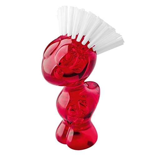 koziol TWEETIE Vegetable Brush transparent
