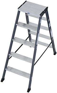 Krause – Escalera doble sepro D anodizado, 1 pieza, 2 x 5 niveles, 125828: Amazon.es: Bricolaje y herramientas