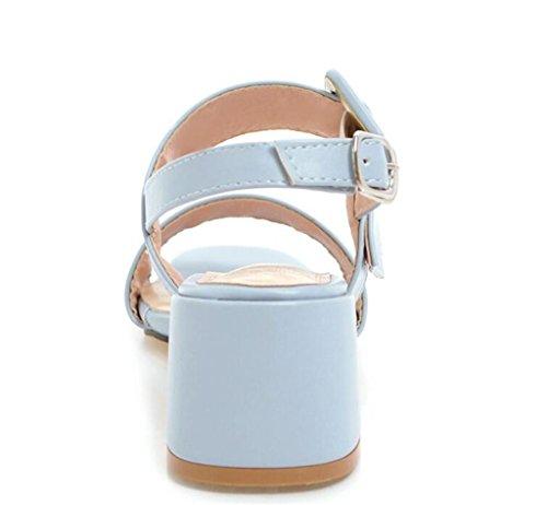 5cm diario antideslizante Cinturón Compras Mujer Blue De 41 Para hebilla Fiesta Verano Sandalias Blue sandalias 34 Confort 41 Xie 34 Elegancia xOg6vzS