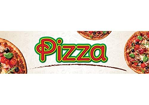 Winco EDM-2PZS, 5-3/4'' X 16-1/8'' Rectangular Plastic Pizza Sign for EDM-2, Food Display, Pizza Merchandiser