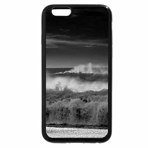 iPhone 6S Case, iPhone 6 Case (Black & White) - Seascape Beach