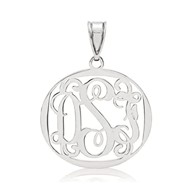 Personalised any initial customised Buddha Namaste necklace silver plated chain
