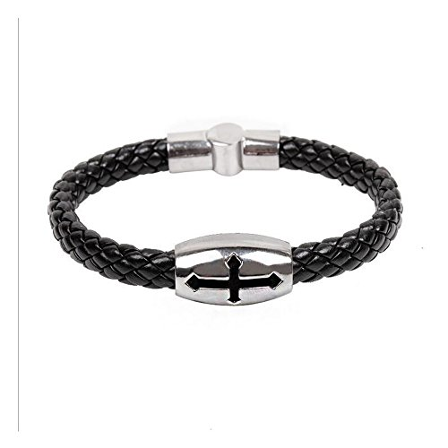 Fariishta Jewelry Hand Braided Cross Serpentine Leather Wrap Bracelet£¨1#£©