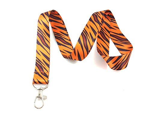 (Safari Animal Print Lanyard Key Chain Id Badge Holder)