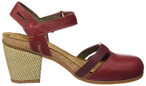 El Rojo Cerrada Mujer para con Tibet de Naturalista Soft Tacón Zapatos Mola Punta N5032 Grain OwOfxv7rq