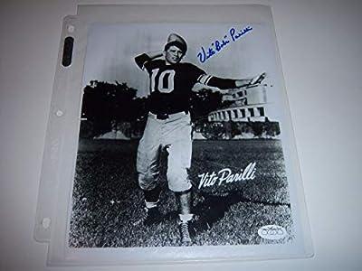 Babe Parilli Kentucky Wildcats,Patriots JSAcoa Autographed Signed 8X10 Glossy Photo
