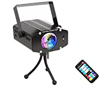 Strobe Lights,SOLMORE 7 Color LED Water Ripples Lights Projector Light,Ocean Wave Lamp Stage Lights Disco Dj Light ,Sound Activated Party Effect Lights with Remote for Party KTV Home Club Bar Wedding