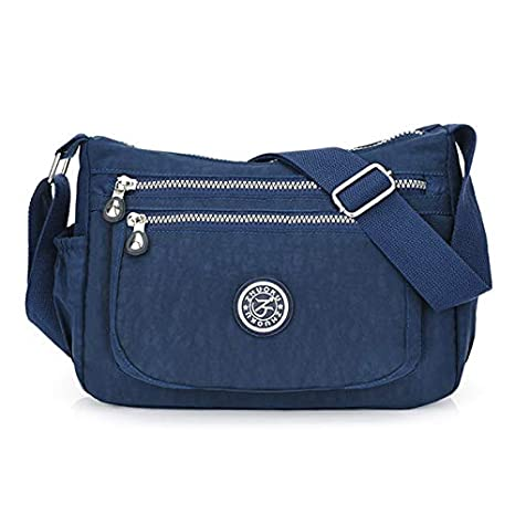 Amazon.com: Brand Design Women Messenger Bag Casual Shoulder ...