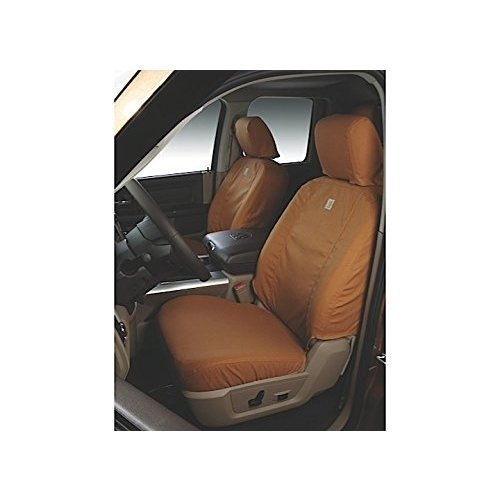 Covercraft Carhartt SeatSaver Front Row Custom Fit Seat Cover for Select Ford F-250 Super Duty/F-350 Super Duty Models - Duck Weave ()