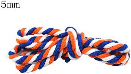 ZHWNGXO 5mm natürliche Baumwolle gedrehtes Seil, for Gebraucht 10m for Betriebsaufhänger Wandbehang Craft Herstellung Traumfängern Makramee Supplies Geflochtene Jute Twine (Color : B, Size : 10M)