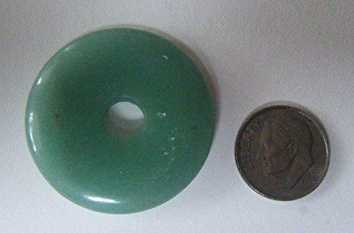 35mm Donut Gemstone Pendant - Pendant, Green Aventurine 35mm Gemstone Donut - 1pc