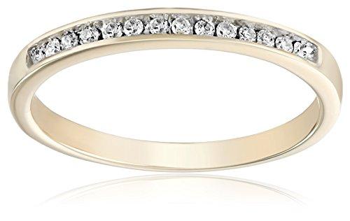 10KT Yellow Round Diamond Anniversary