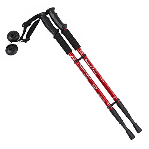 MiluoTech Walking Stick, Trekking Poles Ultralight & Adjustable Height and Anti Shock Backpacking Climbing Hiking Poles One Pair