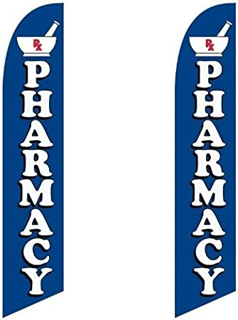 Pharmacy King Windless Swooper Flag With 2  Complete Kit