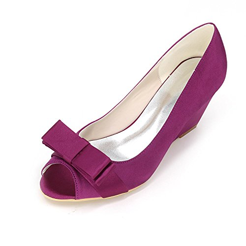 L@YC Women's High Heels Wedding Shoes Heels / Wedges Wedding / Dress Ivory / White Purple