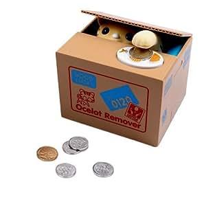 Dazzling Toys Battery Operated Kids Cat Stealing Money Saving Bank Box