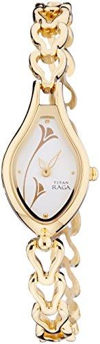 Titan Raga Gold/Silver Metal Jewellery Design, Bracelet Clasp, Quartz Glass, Water Resistant, Analog Wrist Watch