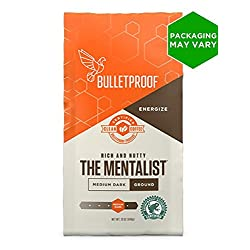 Bulletproof The Mentalist Ground Coffee, Medium Dark Roast, 12 Oz, Keto Friendly, Certified Clean Coffee, Rainforest…