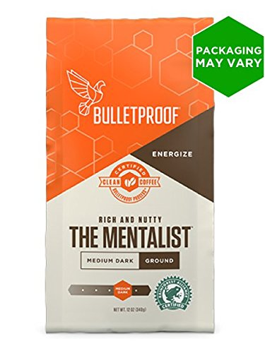 Bulletproof The Mentalist Medium – Dark Roast Ground Coffee,(12 Ounces)