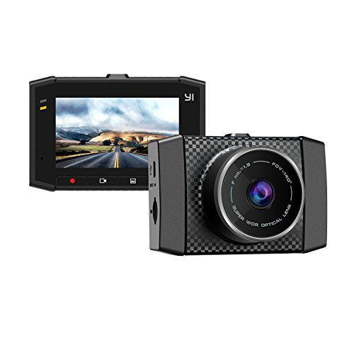 YI Dash Cam, Ultra 2.7K 140 Degree Wide Angle Dashboard Camera Recorder, Car DVR Vehicle Voice Control Dash Camera with 3-Axis G-Sensor, WDR, Loop and Emergency Recording, Memory SD Card Included