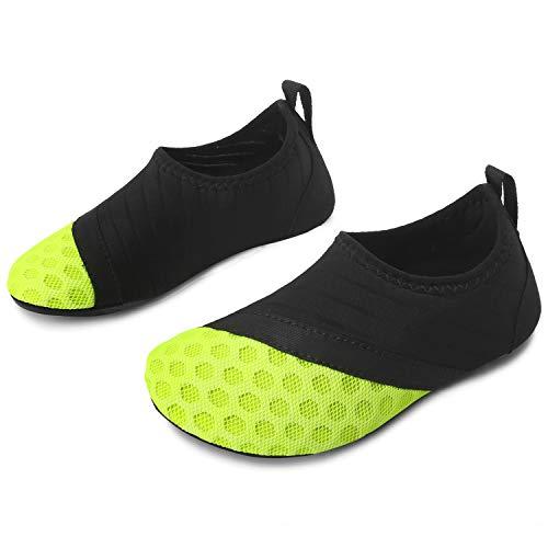 - L-RUN Kids Water Sports Shoes Boys Girls Summer Swim Aqua Sock Green 5-5.5=EU20-21