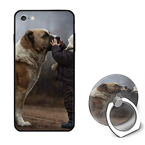 Sweet Dog iPhone 6S Case/iPhone 6 Case Rubber Shockproof Cover with Ring Kickstand Compatible with iPhone 6 / 6S]()