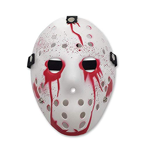Letsparty Halloween Costume Horror Hockey Mask Party Cosplay Props (bloody)]()