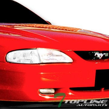 Clear Mustang Corner Lights - Topline Autopart Chrome Clear Lens Signal Parking Corner Lights Lamps K2 94-98 Ford Mustang V6 GT