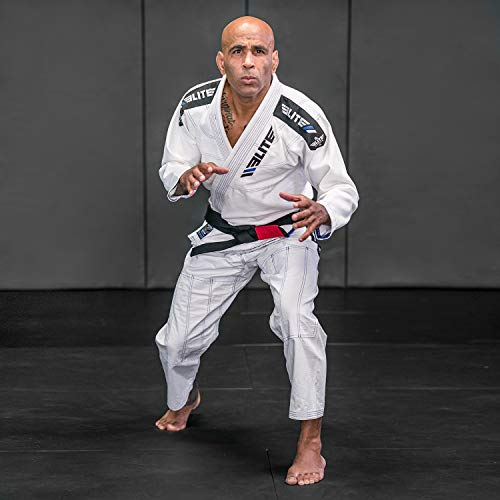 Elite Sports BJJ GI for Men IBJJF Kimono BJJ Jiujitsu GIS W/Preshrunk Fabric & Free Belt (White, A3)