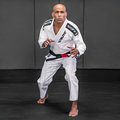 Elite Sports BJJ GI for Men IBJJF Kimono BJJ Jiujitsu GIS W/Preshrunk Fabric & Free Belt (White, A3)
