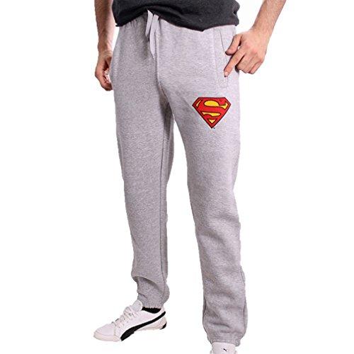 Pantaloni sportivi per uomo DC Comics Superman - pantaloni Logo sudore Classic sudore pantaloni grigi