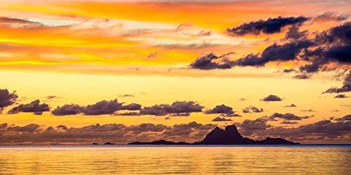 Bora Bora photography print. Original Tahiti wall art.
