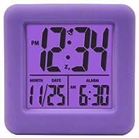 70904- Soft Cube Lcd Alarm Clock Purple ...