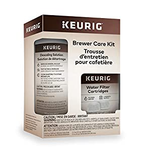 Keurig Brewer Care Kit with Descaling Solution and 2 Water Filter Cartridges, Compatible with All 2.0 and 1.0 K-Cup Pod Coffee Makers from Keurig