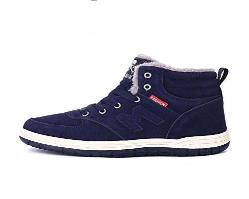 Chaussures Hommes épais Garde Chaussures Neige élevée Plus de au Aide Fond Hiver à Coton blue chaud cachemire l'usure Résistant Chaussures SqxURnS