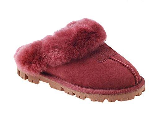Zapatillas Casuales Ugg Rojohombres Vino Unisex Ozwear De Algodón Casa SP15z