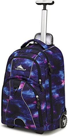 High Sierra Freewheel Wheeled Laptop Backpack, Cosmos/Midnight Blue, 20.5 x 13.5 x 8-Inch