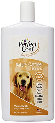 Perfect Coat Natural Oatmeal Shampoo, 32 Ounce Bottle, French Vanilla