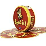 Paper Dobble It Game Family Party Entertainment Spot Board Game Icon Match English Card Game it has metal Box 55 cards/set-X