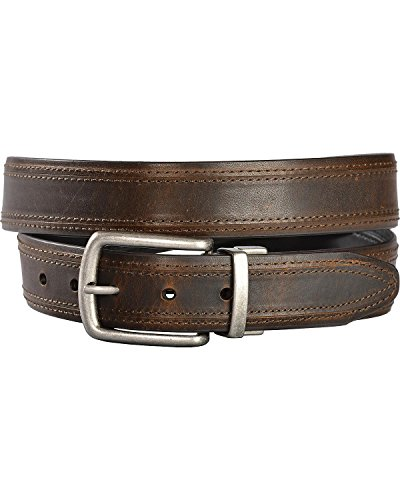 (Gibson Trading Co Men's Co. Twisted Buckle Reversible Leather Belt Multi 34)