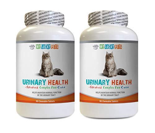MY LUCKY PETS LLC cat Urinary Support Food - CAT Urinary Health Formula - Support Bladder Health - Natural Complex - cat Urinary Blockage - 2 Bottle (180 Treats)