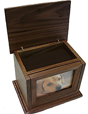 Sps200 Elegant Photo Frame Mahogany Wood Cremation Urn (40 Cubic In., DARK BROWN)Stock In USA 7 Days Delivery