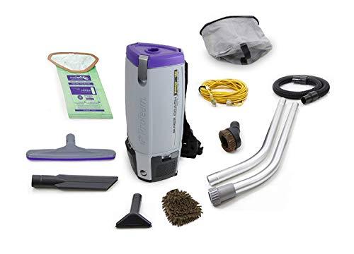 (Proteam 107304 Super Coach Pro 10 QT Backpack Vacuum Cleaner (Complete Set) w/Bonus: Premium Microfiber Cleaner Bundle)