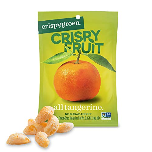 (Crispy Green Freeze-Dried Fruit, Single-Serve, Tangerine, 0.35 Ounce (12 Count) NEW PACKAGING)