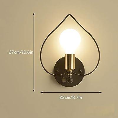 HJGYT Lámparas de Pared nórdicas Dormitorio Luces de cabecera ...